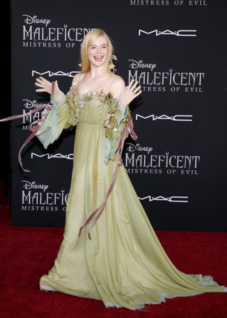 Actress Elle Fanning at the premiere of Maleficent Mistress Of Evil