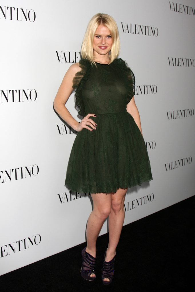 Alice Eve arrives at the Valentino Beverly Hills Opening