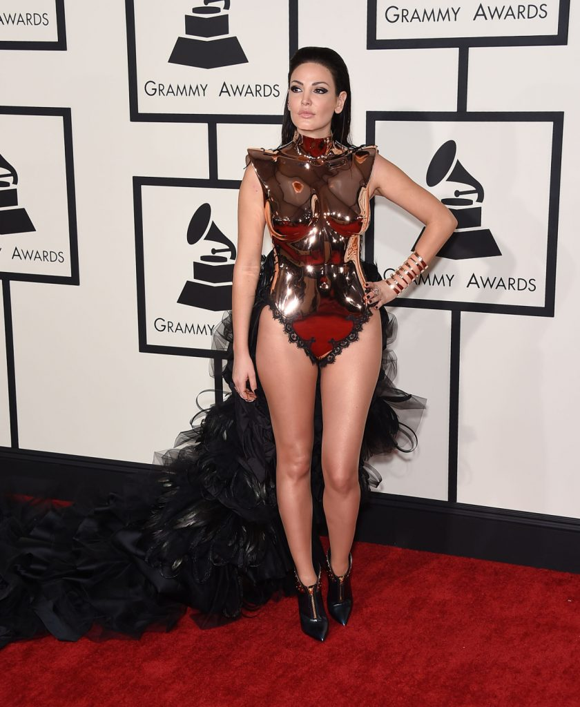 Bleona Qereti arrives to the Grammy Awards