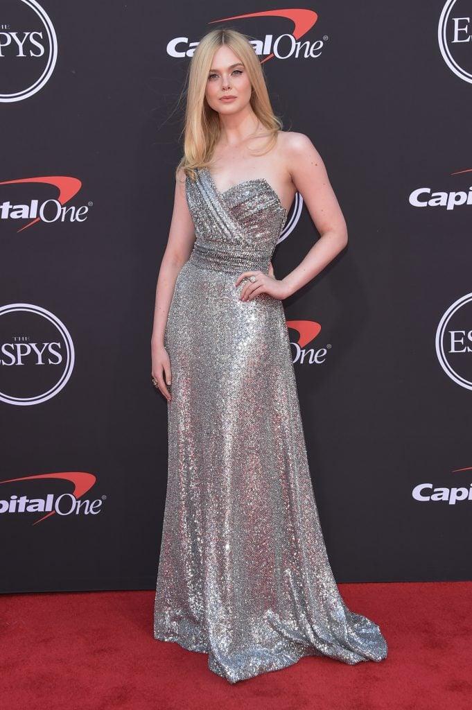 Elle Fanning arrives to ESPY Awards