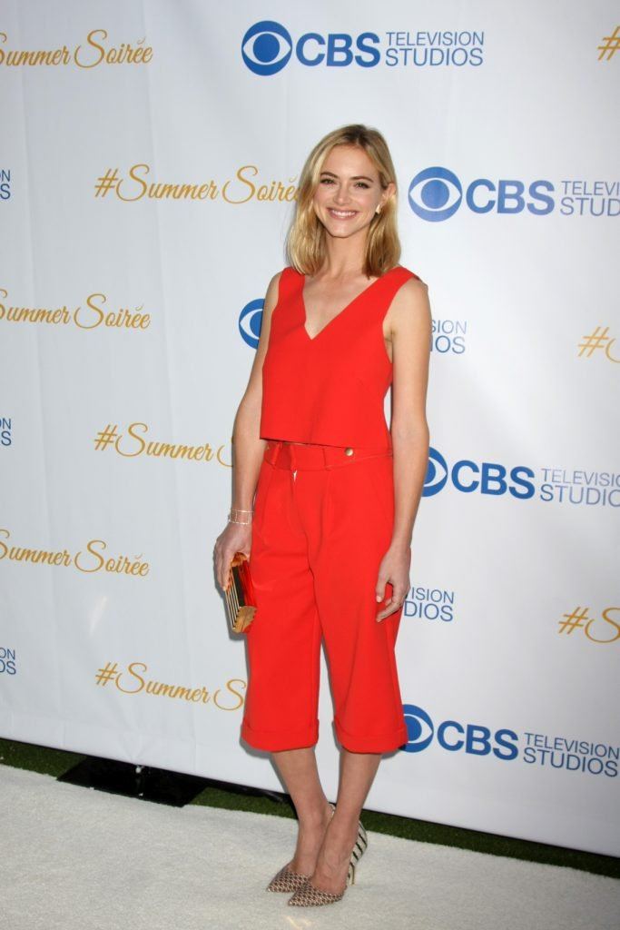 Emily Wickersham at the CBS Summer Soiree