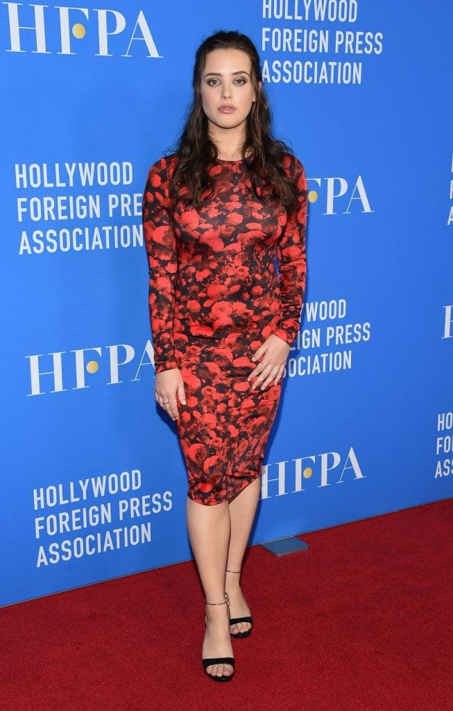 Katherine Langford at the HFPA's Grants Banquet