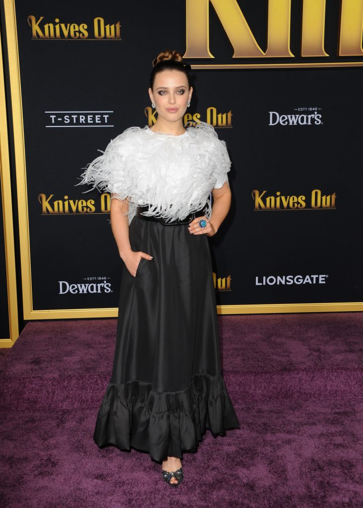 Katherine Langford at the premiere of Knives Out