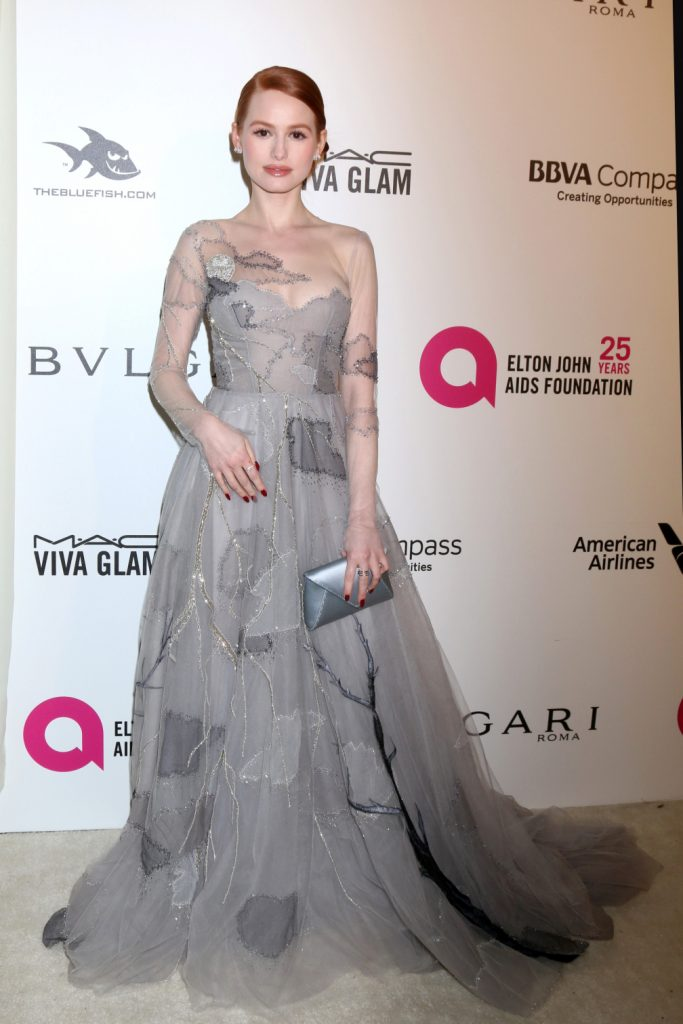 Madelaine Petsch at the 2018 Elton John AIDS Foundation Oscar Viewing Party