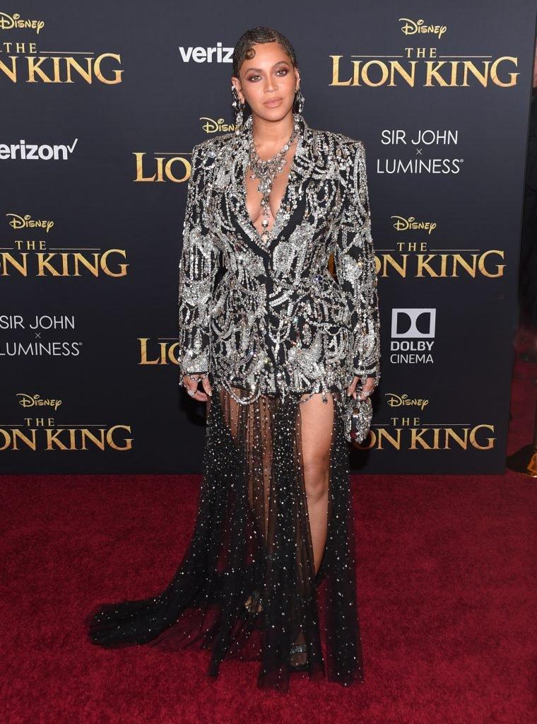 Beyonce Knowles at the The Lion King World Premiere