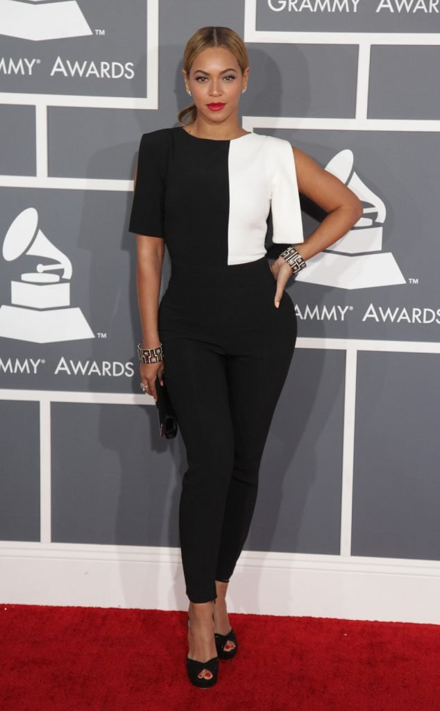 Beyonce arrives to the Grammy Awards