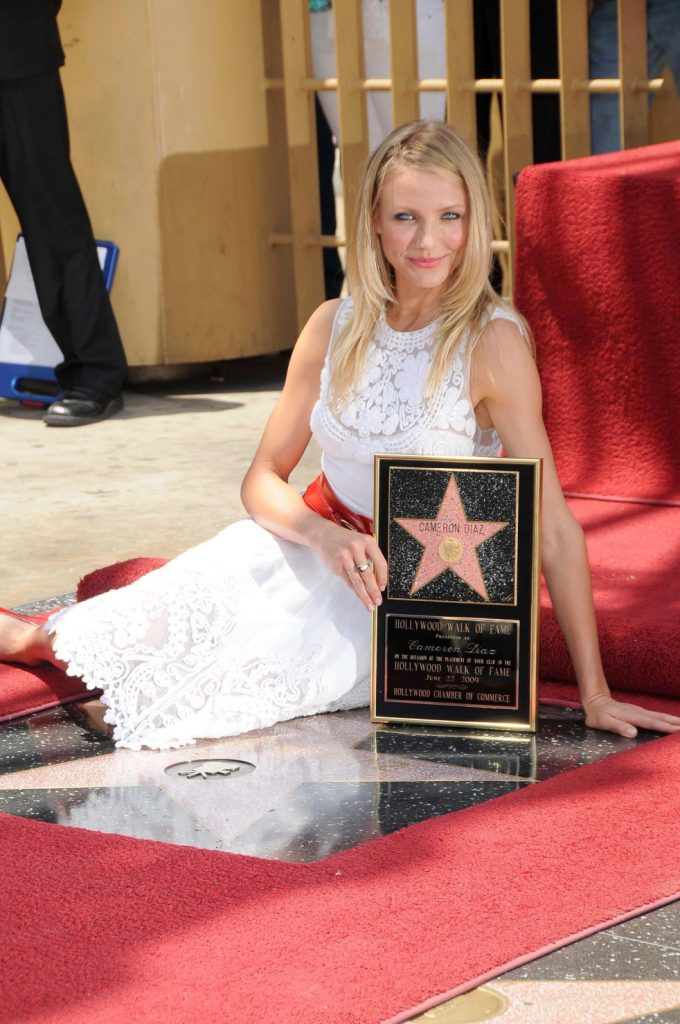 Cameron Diaz at the Hollywood Walk of Fame Ceremony