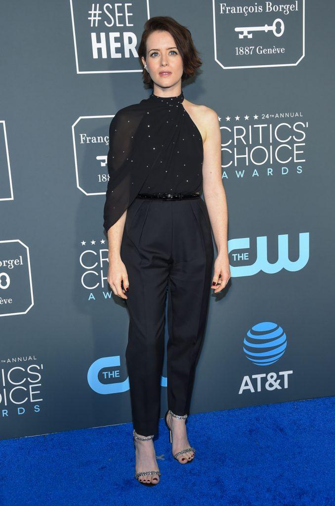 Claire Foy a the Critics Choice Awards
