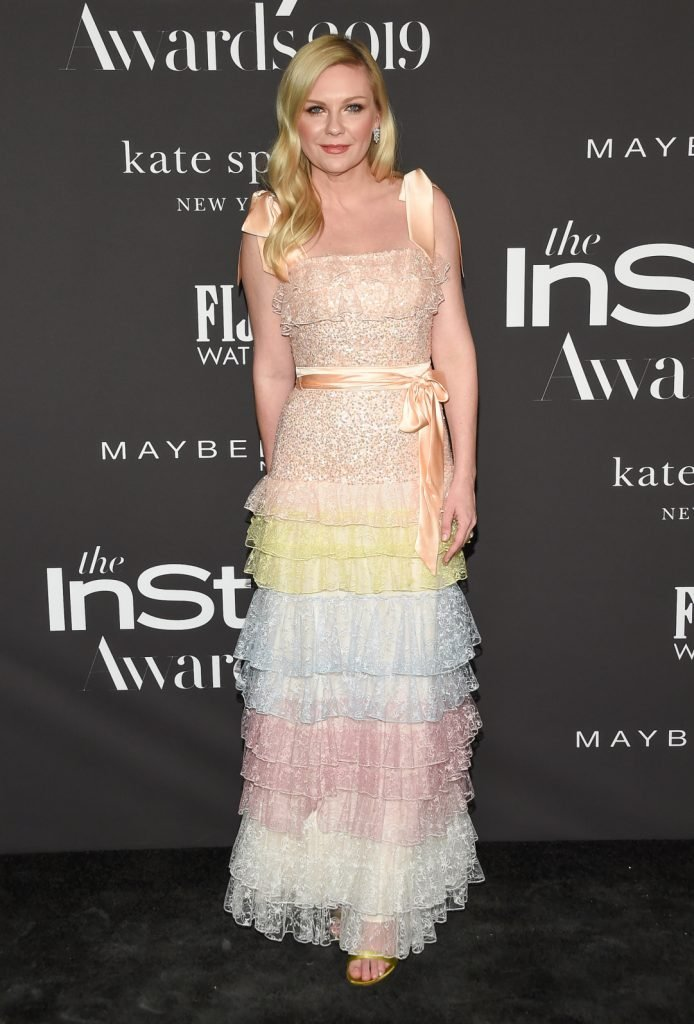 Kirsten Dunst arrives for the InStyle Awards
