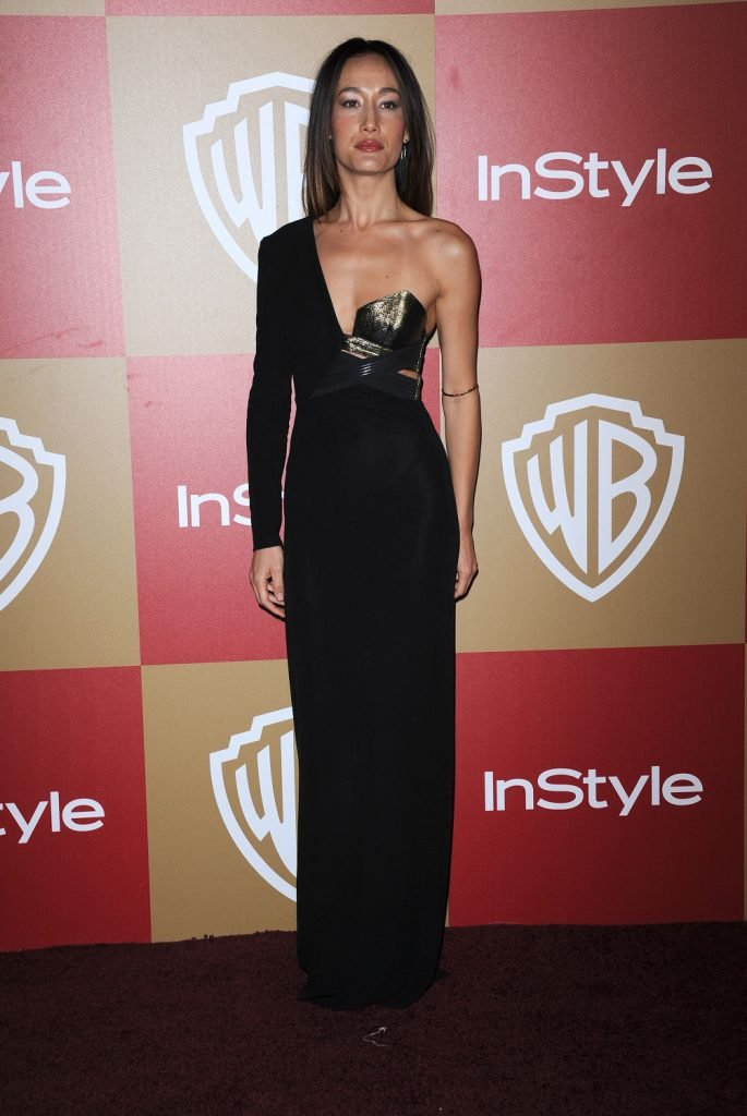 Maggie Q arrives to the WB:In Style Golden Globe Party