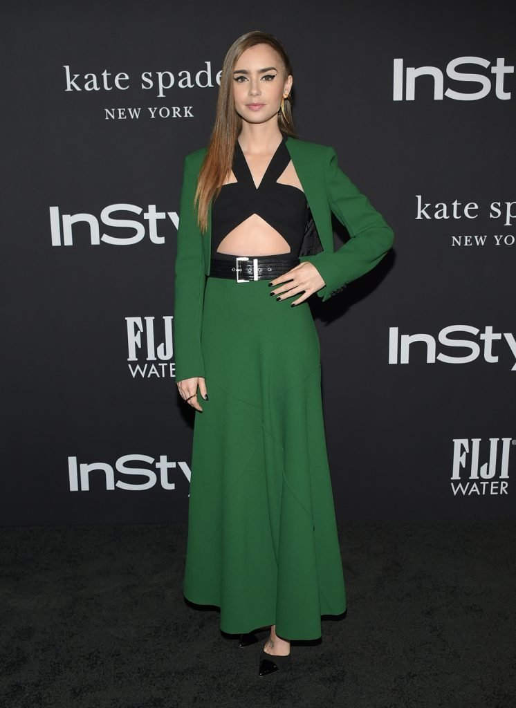 Actress Lily Collins at the InStyle Awards