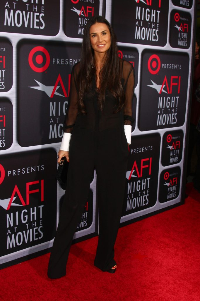 Demi Moore arrives at the AFI Night at the Movies
