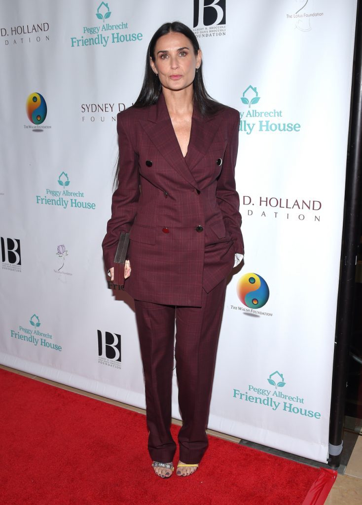 Demi Moore arrives to the Friendly House Lucheon