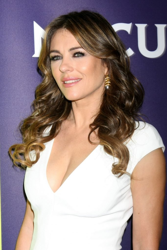 Elizabeth Hurley at the NBCUniversal Cable TCA Winter