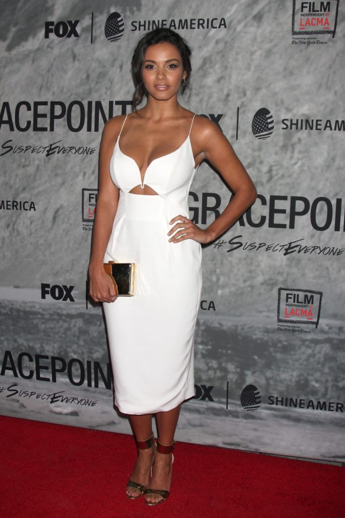 Jessica Lucas at the Gracepoint Premiere Party