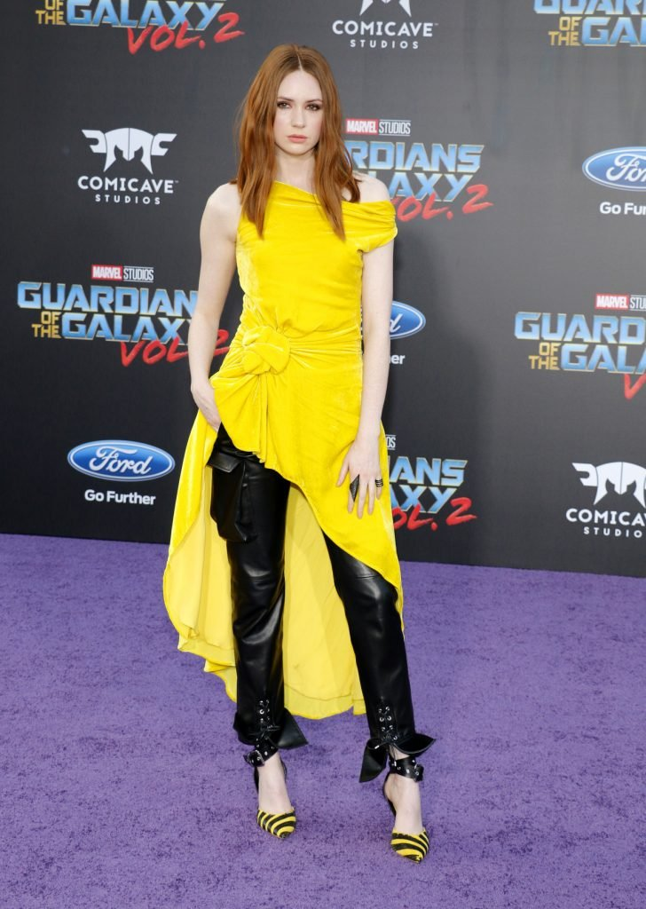 Karen Gillan at the Los Angeles premiere of Guardians Of The Galaxy Vol. 2
