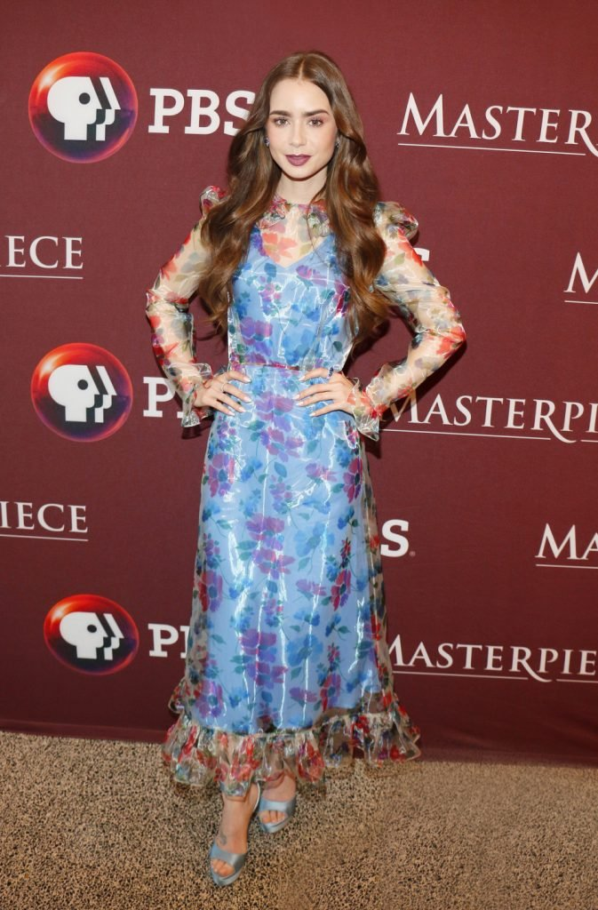Lily Collins at the Les Miserables Photo Call