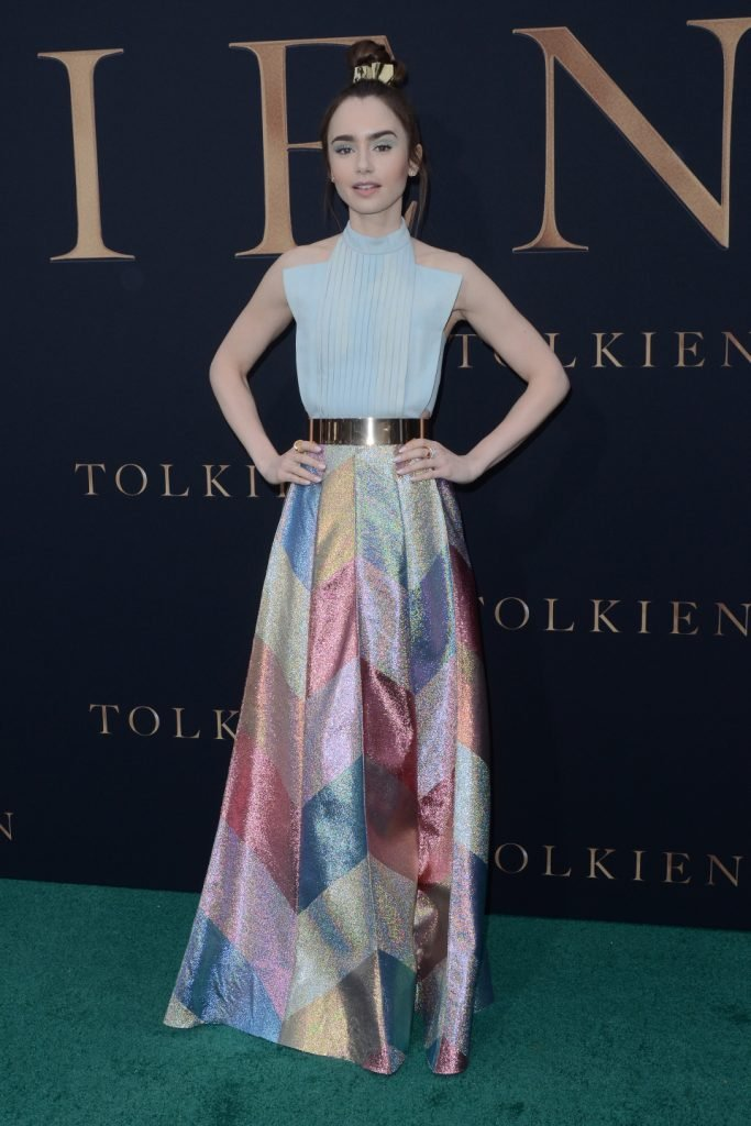 Lily Collins at the Tolkien LA Special Screening