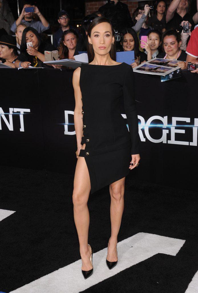 Maggie Q at the Divergent movie Premiere event