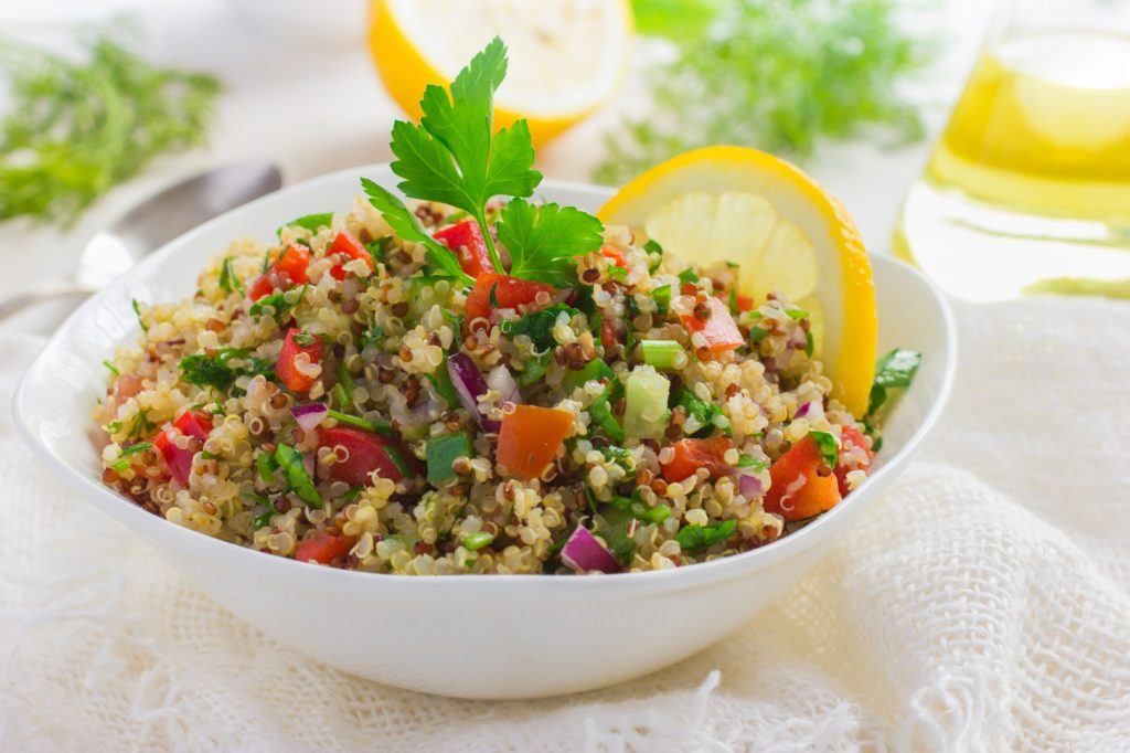 Salad with quinoa parsley and Vegetables