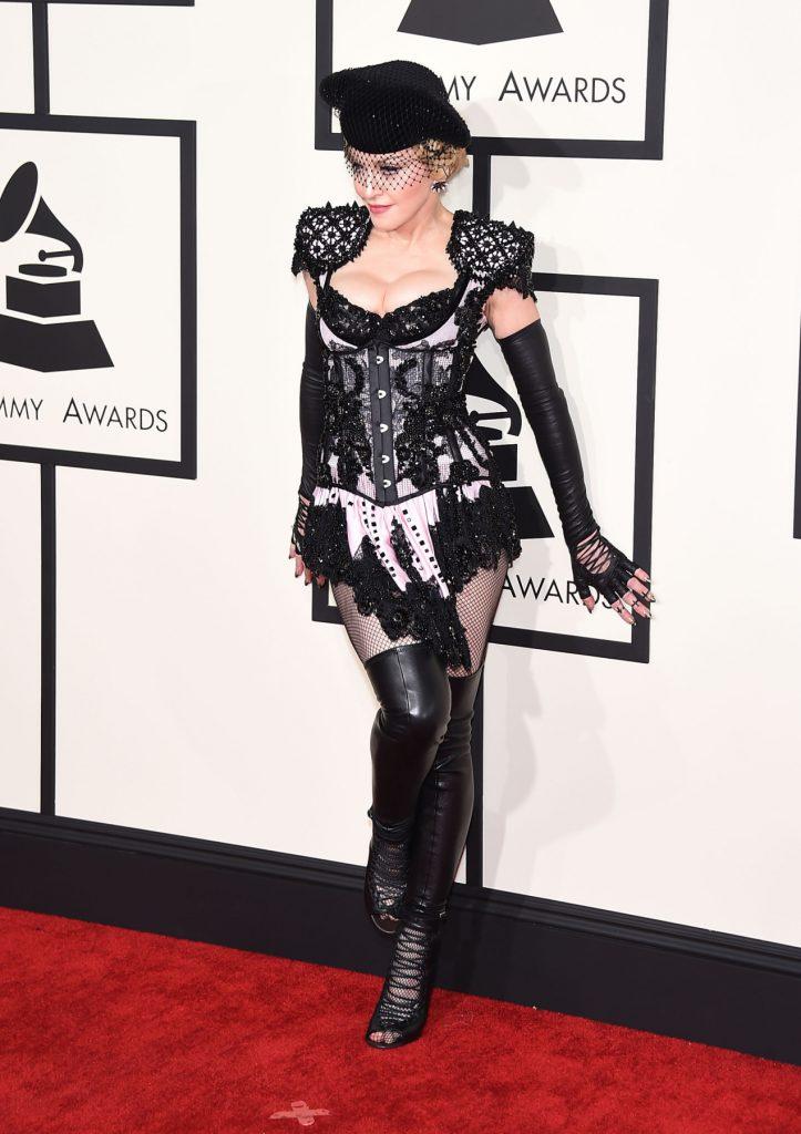 Singer Madonna at the Grammy Awards