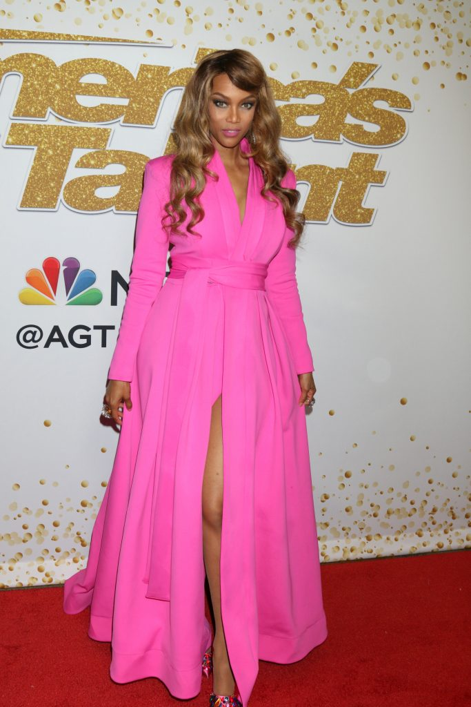 Tyra Banks at the America's Got Talent Show Red Carpet