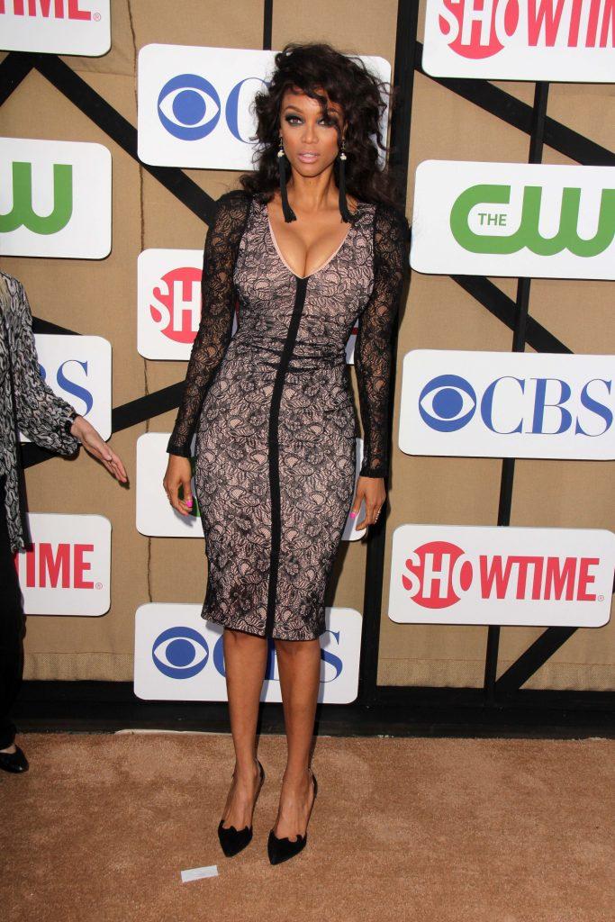 Tyra Banks at the CBS TCA Summer Stars Party