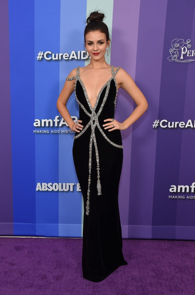 Victoria Justice arrives for the amFAR Gala