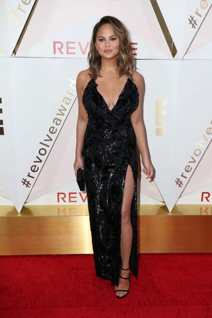 Chrissy Teigen at the Revolve Awards
