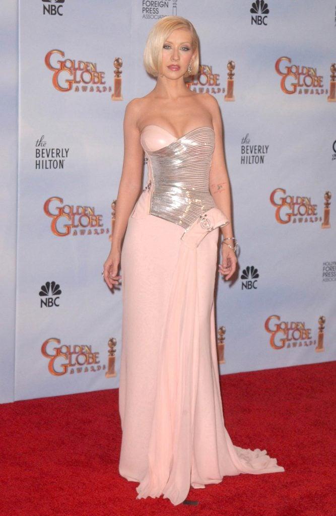 Christina Aguilera  at the 67th Annual Golden Globe Awards Press