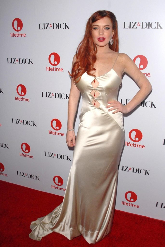Lindsay Lohan at the Liz and Dick Premiere
