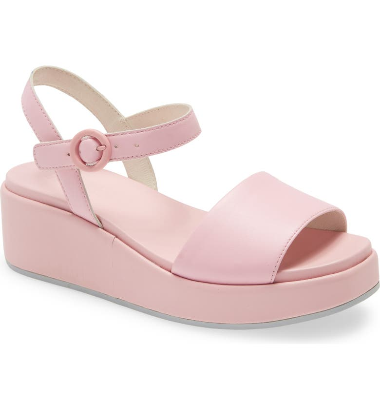 Pastel Pink Shoes with purple dress