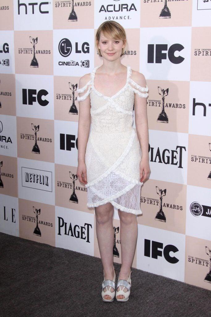 Actress Mia Wasikowska at the Film Independent Spirit Awards