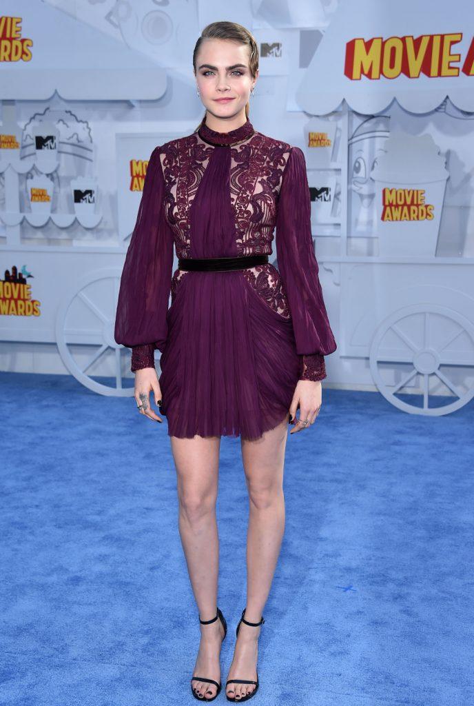 Cara Delevingne at the MTV Movie Awards