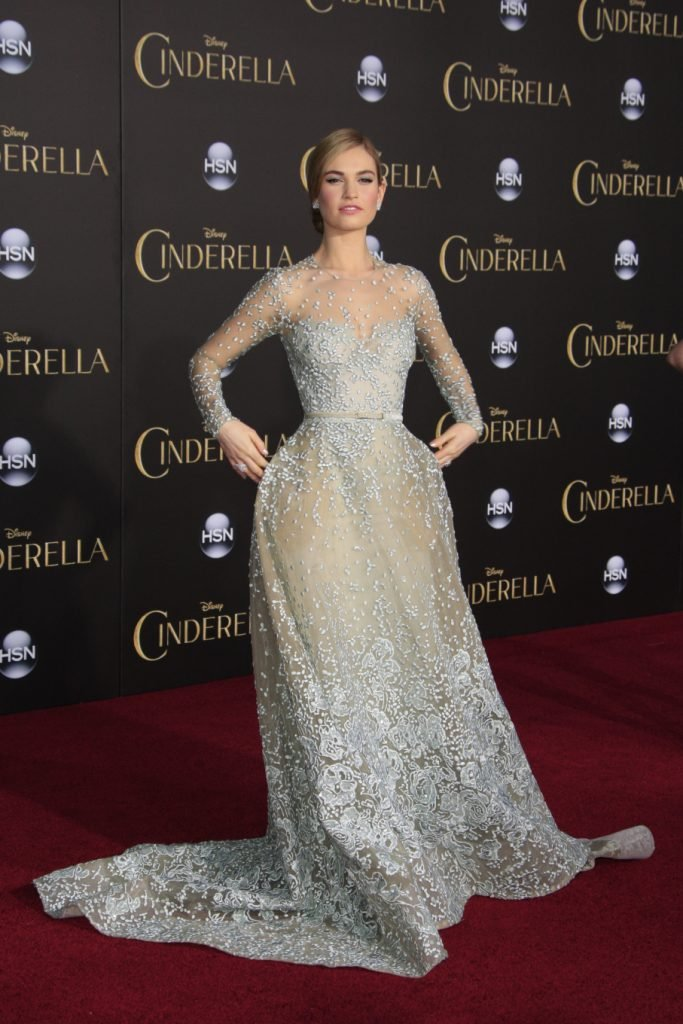 Lily James at the Cinderella World Premiere