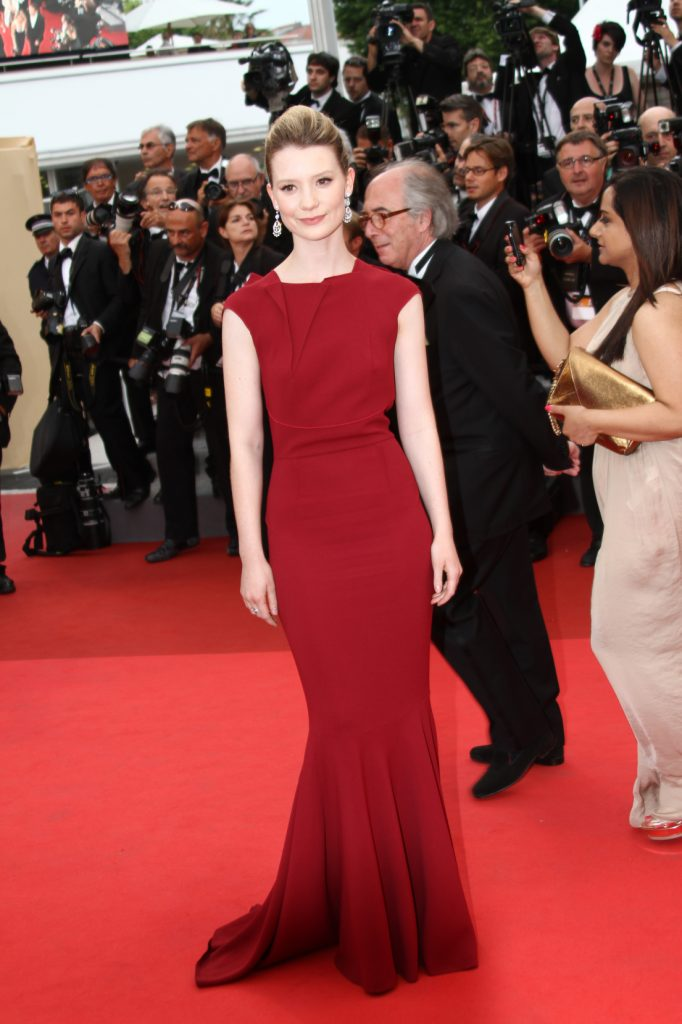 Mia Wasikowska at the Cannes Film Festival