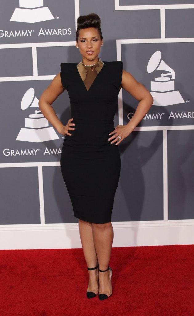 Alicia Keys at the Grammy Awards