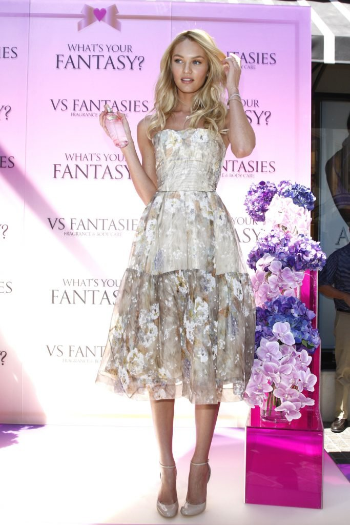 Candice Swanepoel unveils the 'VS Fantasies' Body Care & Fragrance Collection at Victoria's Secret