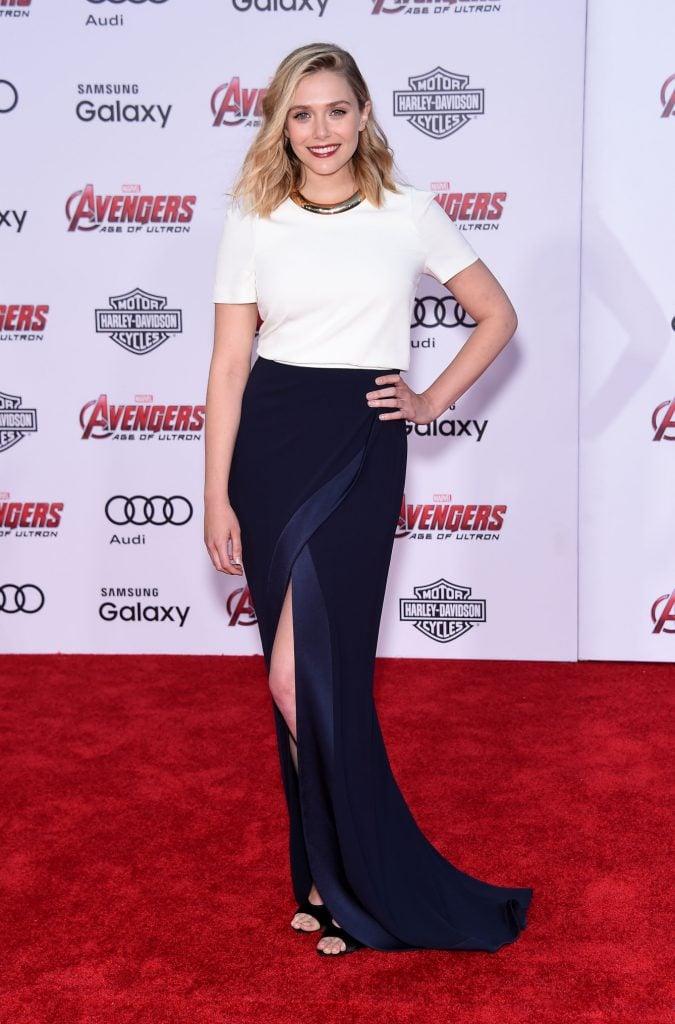 Elizabeth Olsen at Marvel's Avengers Age of Ultron Premiere