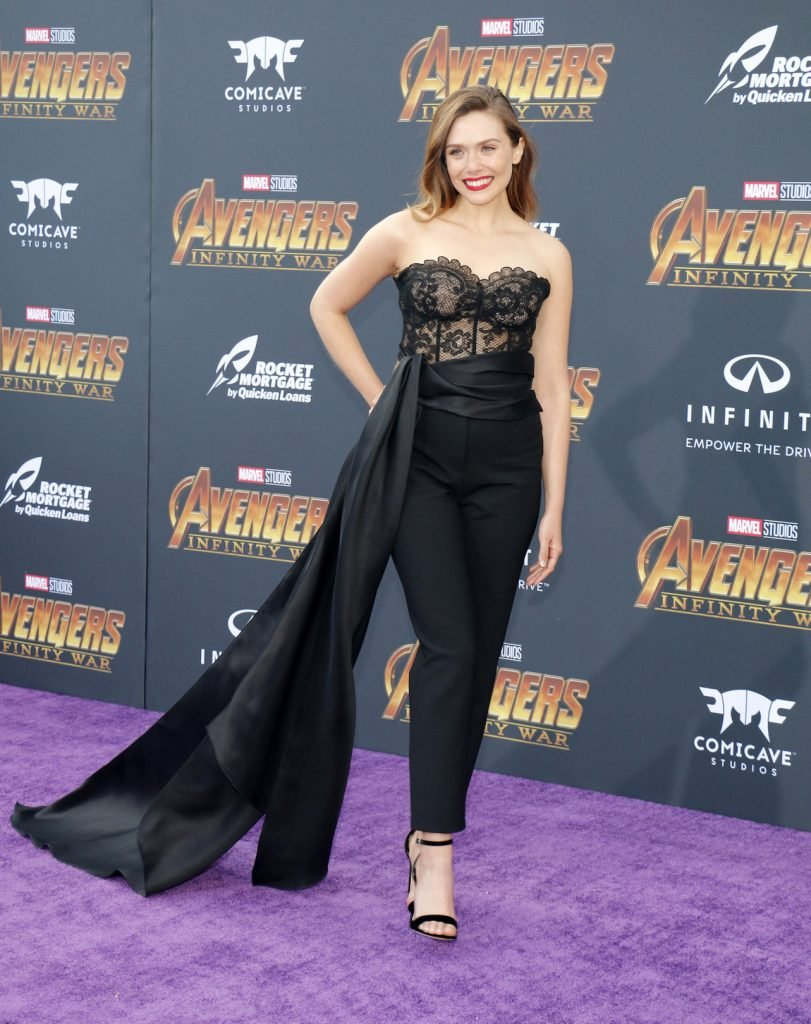 Elizabeth Olsen at premiere of Marvel's 'Avengers