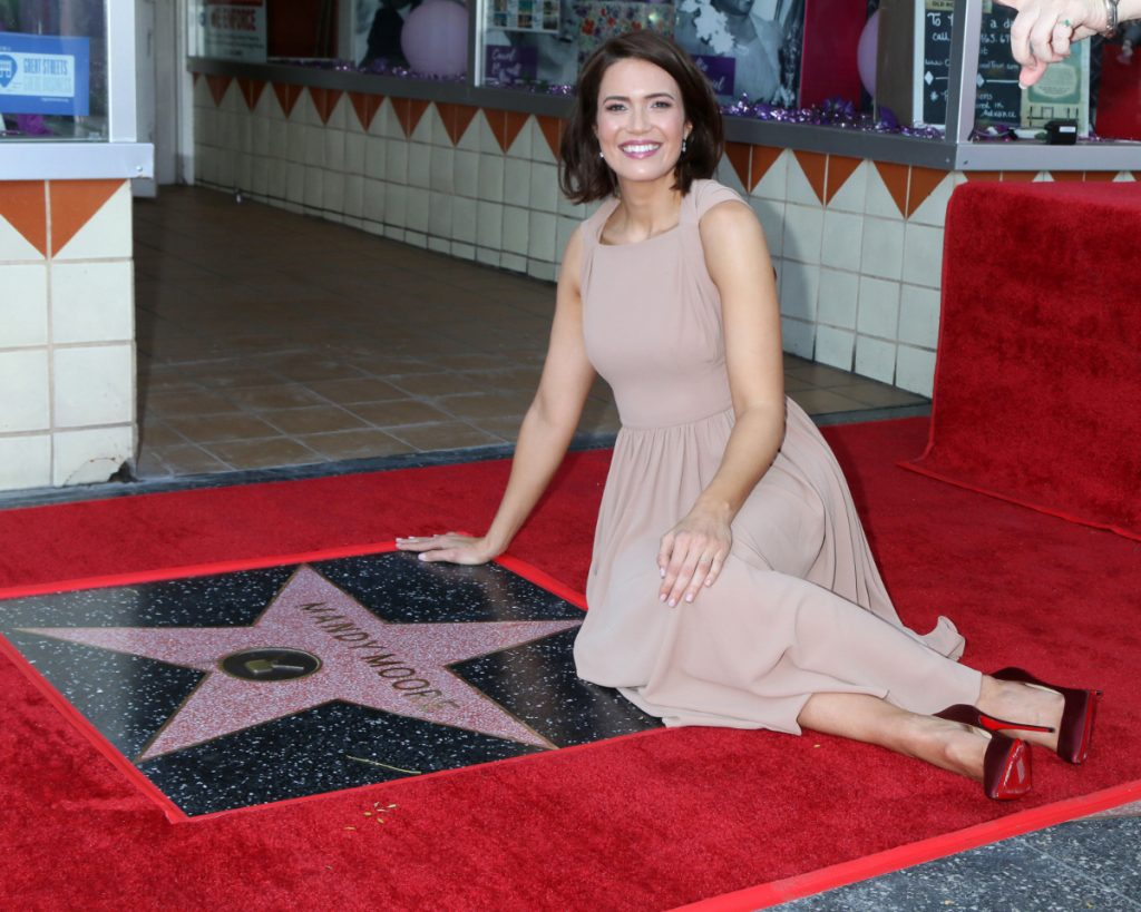 Mandy Moore at Mandy Moore Star Ceremony