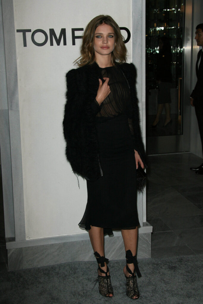 Natalia Vodianova at Tom Ford Beverly Hills Store