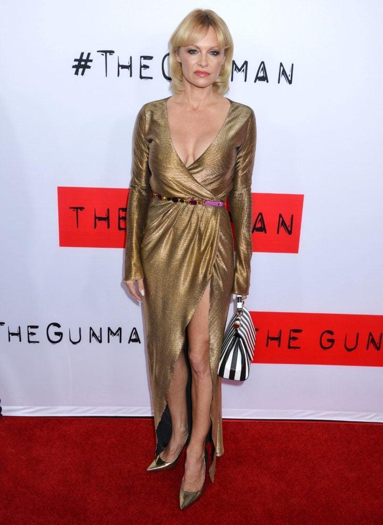 Pamela Anderson at The Gunman Premiere