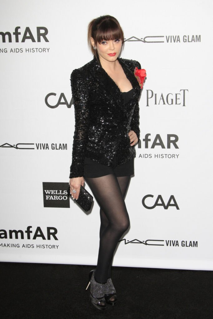 Rose McGowan at amfAR's Inspiration Gala