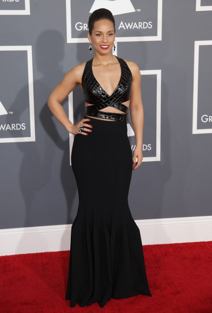 Singer Alicia Keys at the Grammy Awards