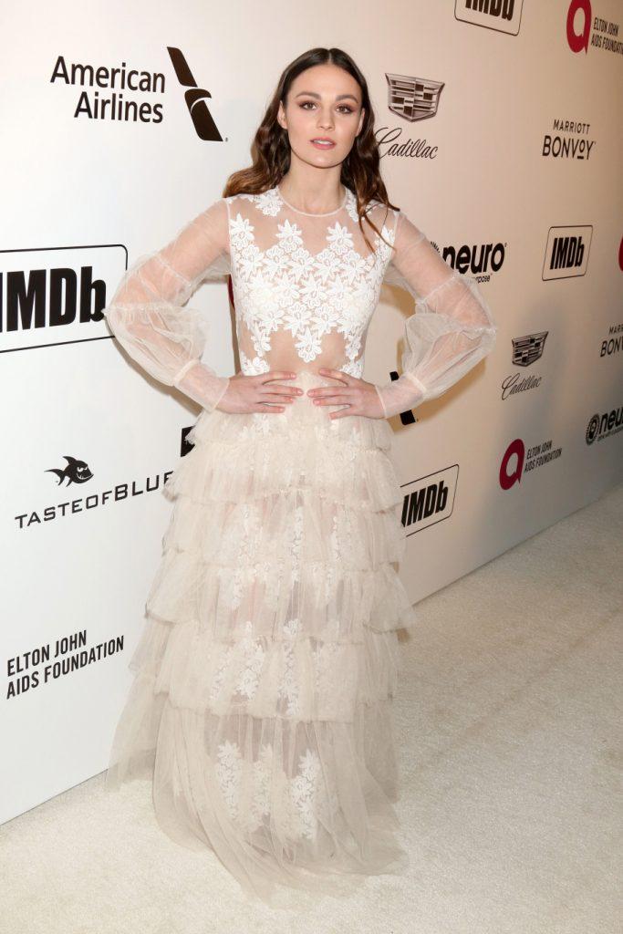Sophie Skelton at the Elton John Oscar Viewing Party