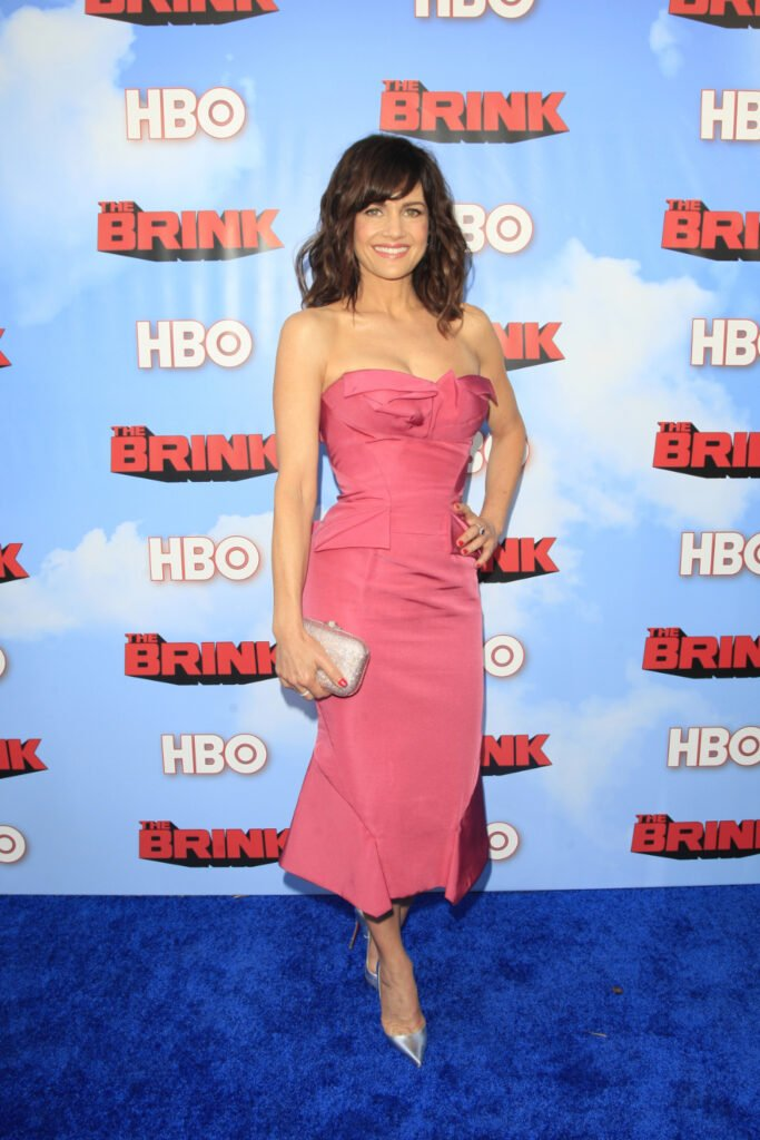 Carla Gugino at the Premiere of HBO's The Brink