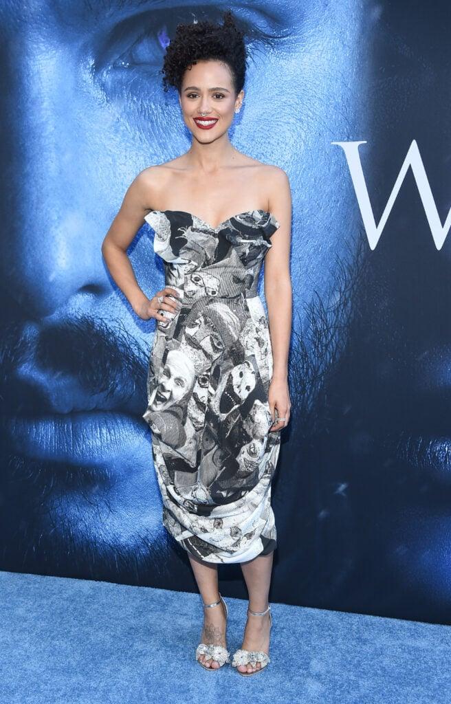 Nathalie Emmanuel arrives for the premiere of HBO