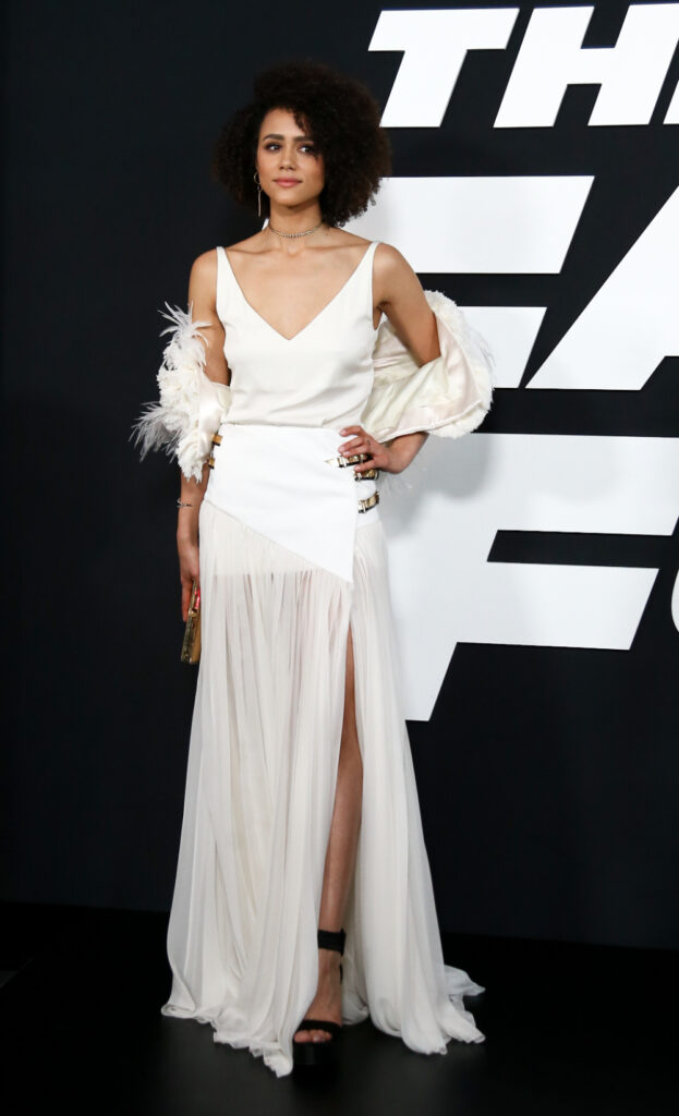 Nathalie Emmanuel at The Fate of the Furious premiere